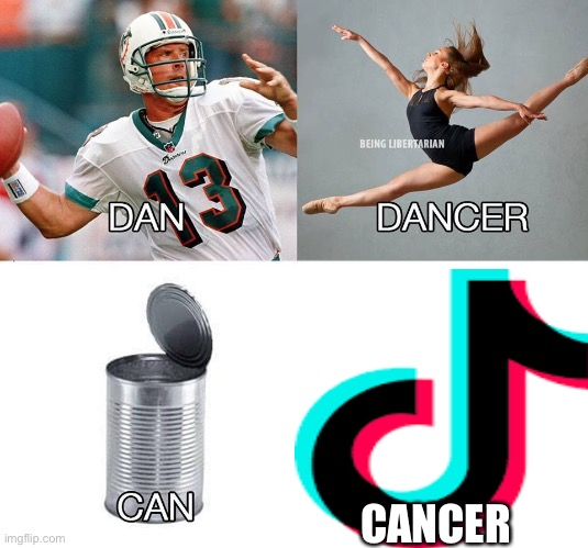 Tik Tok is cancer |  CANCER | image tagged in tik tok,cancer,dan,dancer,can,tik tok sucks | made w/ Imgflip meme maker