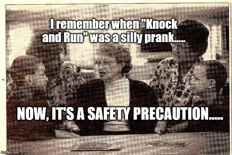 "Nan, Mum, Ian, Brad and I in 2001 |  I remember when ""Knock and Run"" was a silly prank..... NOW, IT'S A SAFETY PRECAUTION..... 