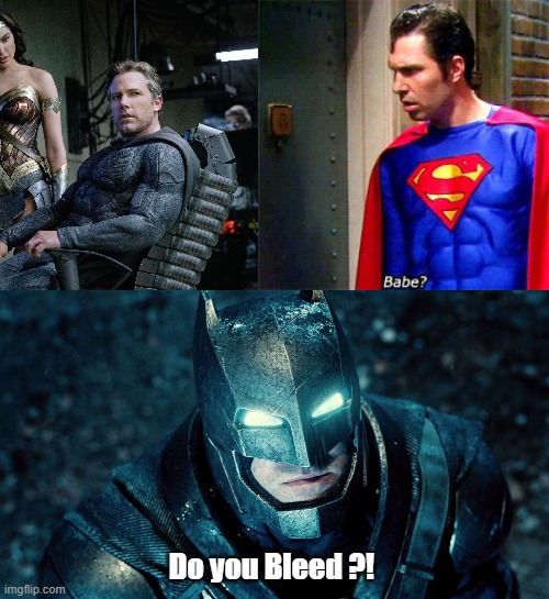 Do you Bleed ?! | image tagged in the big bang theory,batman | made w/ Imgflip meme maker