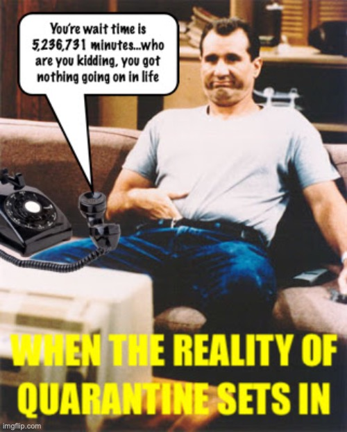 Calling the IRS for the status of your stimulus check... | image tagged in al bundy,quaratine | made w/ Imgflip meme maker