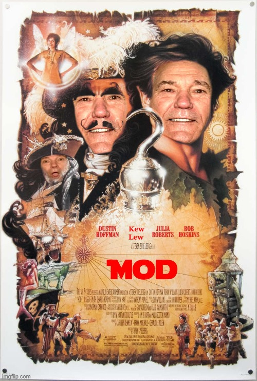 hooked on being a mod | image tagged in kewlew,hook,poster | made w/ Imgflip meme maker