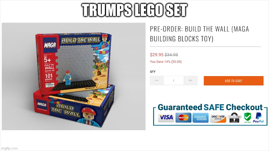 build a wall |  TRUMPS LEGO SET | image tagged in build a wall,lego | made w/ Imgflip meme maker