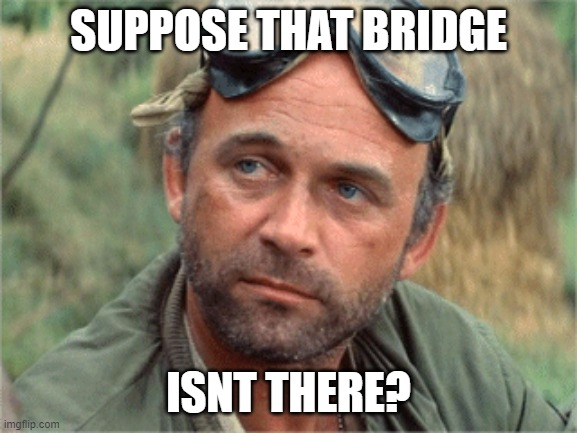 SUPPOSE THAT BRIDGE ISNT THERE? | made w/ Imgflip meme maker