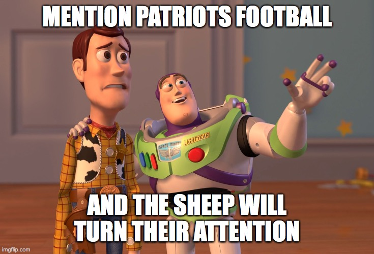 Foose ball |  MENTION PATRIOTS FOOTBALL; AND THE SHEEP WILL TURN THEIR ATTENTION | image tagged in new england patriots,distraction,coronavirus meme,sheep,football | made w/ Imgflip meme maker