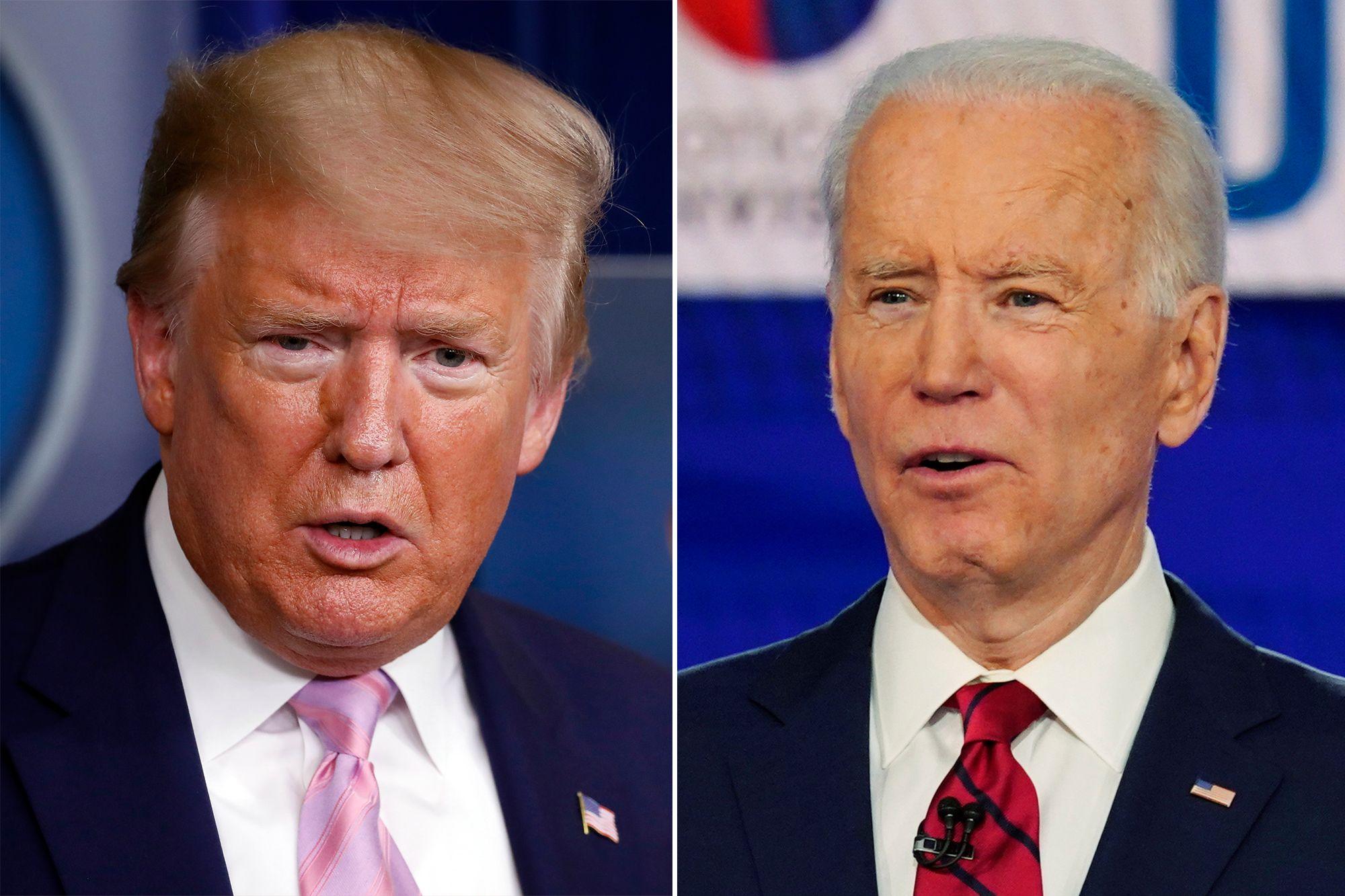 Donald Trump and Joe Biden Blank Template - Imgflip