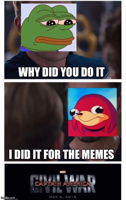 *epic music* | image tagged in funny,memes,pepe the frog,uganda knuckles | made w/ Imgflip meme maker