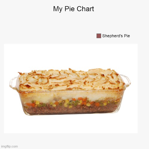 image tagged in charts,pie charts,shepherd's pie,funny,lol,tasty | made w/ Imgflip meme maker