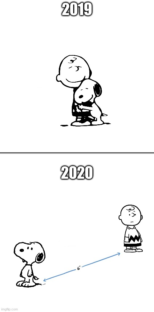 Peanuts today |  2019; 2020 | image tagged in peanuts,snoopy,funny,2020 | made w/ Imgflip meme maker