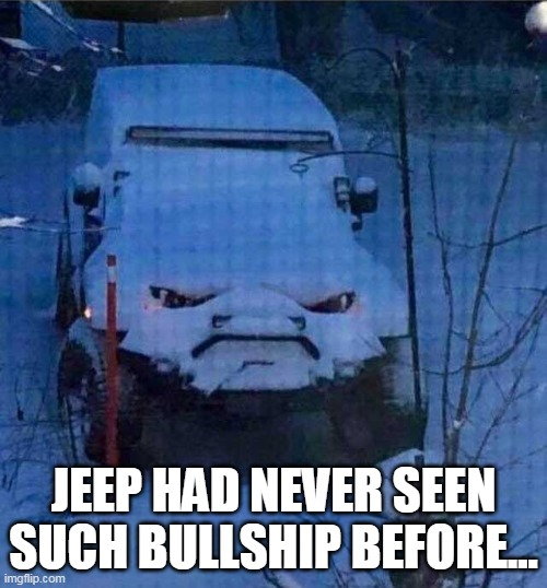 Saw the image captioned differently and redid it. :) |  JEEP HAD NEVER SEEN SUCH BULLSHIP BEFORE... | image tagged in thomas had never seen such bullshit before,bullshit | made w/ Imgflip meme maker