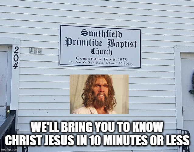 WE'LL BRING YOU TO KNOW CHRIST JESUS IN 10 MINUTES OR LESS | image tagged in geico,caveman,jesus christ,christian,church,historical | made w/ Imgflip meme maker