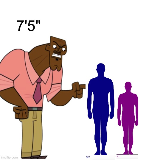 Chef Hachet is taller than your dad/mum i bet |  7'5"