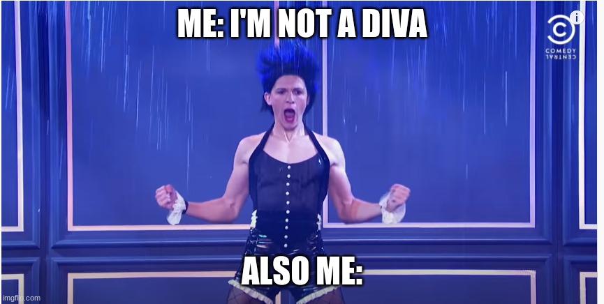ME: I'M NOT A DIVA; ALSO ME: | image tagged in tom holland,umbrella,pose | made w/ Imgflip meme maker