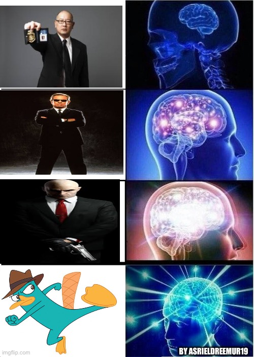 Expanding Brain |  BY ASRIELDREEMUR19 | image tagged in memes,meme,nostalgia,expanding brain,phineas and ferb,old | made w/ Imgflip meme maker