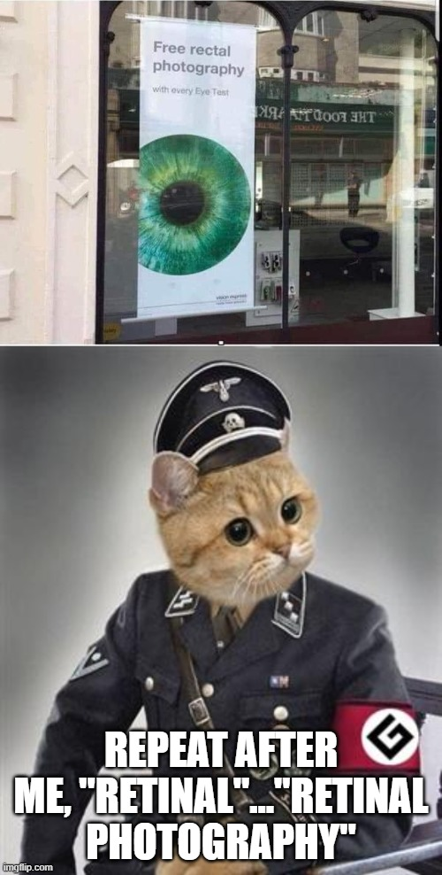 "REPEAT AFTER ME, ""RETINAL""...""RETINAL PHOTOGRAPHY"" 