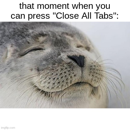 "yes |  that moment when you can press ""Close All Tabs"": 