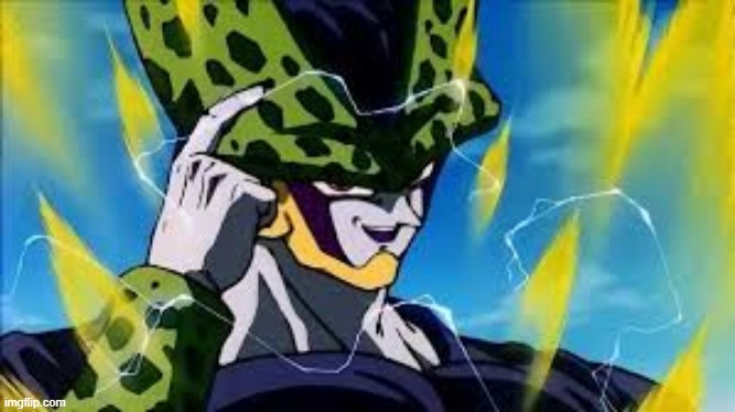 Super Perfect Cell Think About It | image tagged in super perfect cell think about it | made w/ Imgflip meme maker