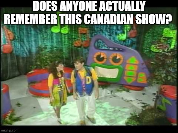 seriously, does anyone remember this canadian show or Judy & David themself anyhow? |  DOES ANYONE ACTUALLY REMEMBER THIS CANADIAN SHOW? | image tagged in memories,boombox,treehouse,canada,ytv | made w/ Imgflip meme maker