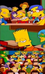 say the line bart! simpsons Meme Template