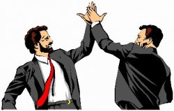 high five office bros Meme Template