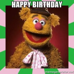happy birthday fozzie bear Meme Template