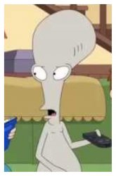 Shocked Roger - American Dad Meme Template