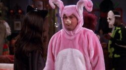 Friends Chandler Bunny Costume Halloween Meme Template