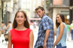 Distracted Boyfriend Meme Template