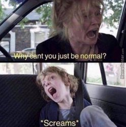 why can't you just be normal Meme Template