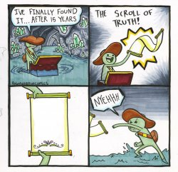 The Scroll Of Truth Meme Template