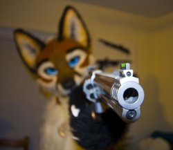 Furry with gun Meme Template