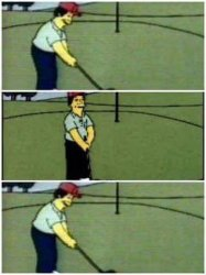 Simpson golf Meme Template