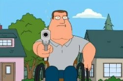 Joe swanson gun Meme Template