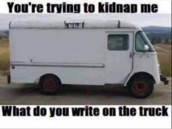 Blank kidnapping truck Meme Template