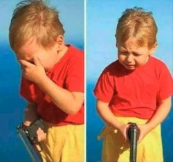 Sad Kid With Gun Meme Template
