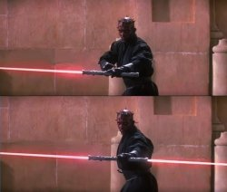 Darth Maul Double Sided Lightsaber Meme Template