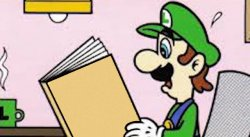 Luigi reading a good book Meme Template