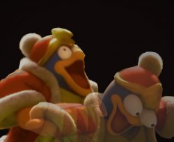 Dedede Laughing Serious Meme Template
