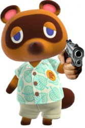 Tom Nook with a Gun Meme Template