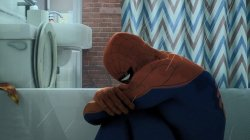 Spider-Man crying in the shower Meme Template