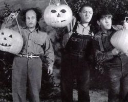 Three Stooges Halloween Meme Template