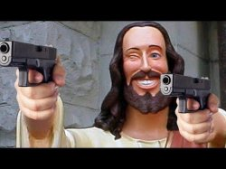 Jesus with Guns Meme Template