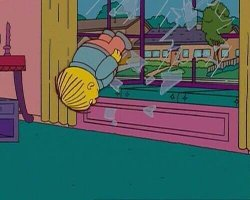 Simpsons Jump Through Window Meme Template