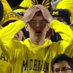Shocked michigan fan Meme Template