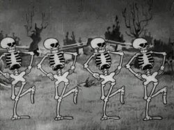 Spooky Scary Skeletons Meme Template