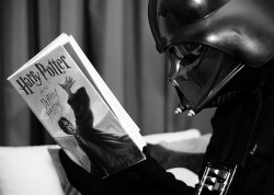 Darth Vader reading Harry Potter Meme Template
