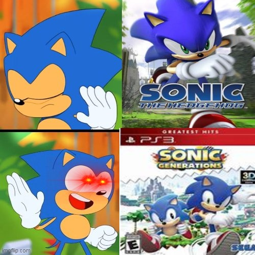 sonic games in a nutshell | image tagged in sonic the hedgehog | made w/ Imgflip meme maker