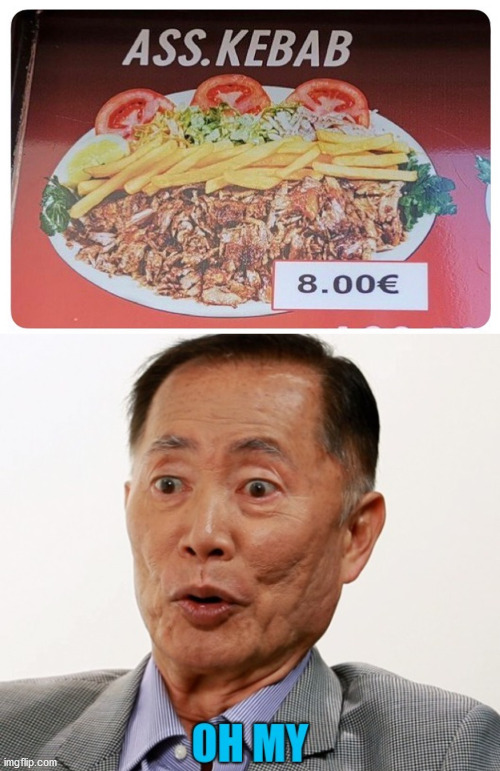 I might just want a plate of that. | image tagged in sulu,oh my | made w/ Imgflip meme maker