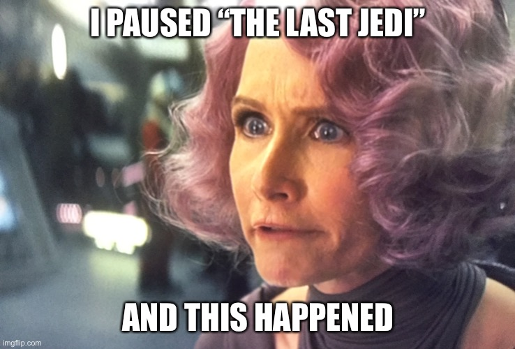 "Never pause a Disney movie |  I PAUSED ""THE LAST JEDI""; AND THIS HAPPENED 