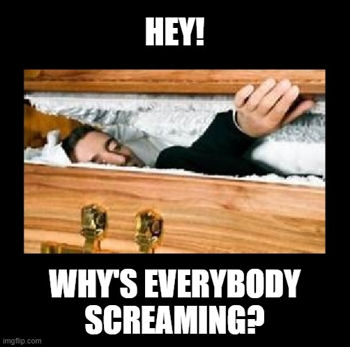 HEY! WHY'S EVERYBODY SCREAMING? | made w/ Imgflip meme maker