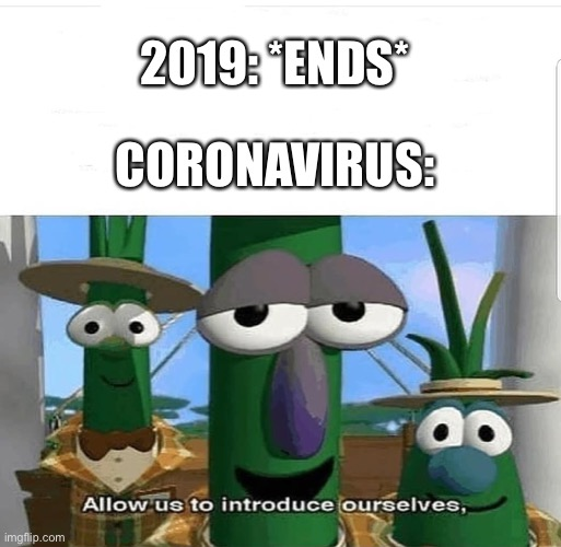 Allow us to introduce ourselves |  2019: *ENDS*; CORONAVIRUS: | image tagged in allow us to introduce ourselves | made w/ Imgflip meme maker